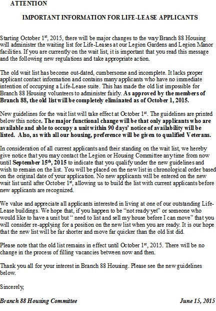 Life Lease info 2015