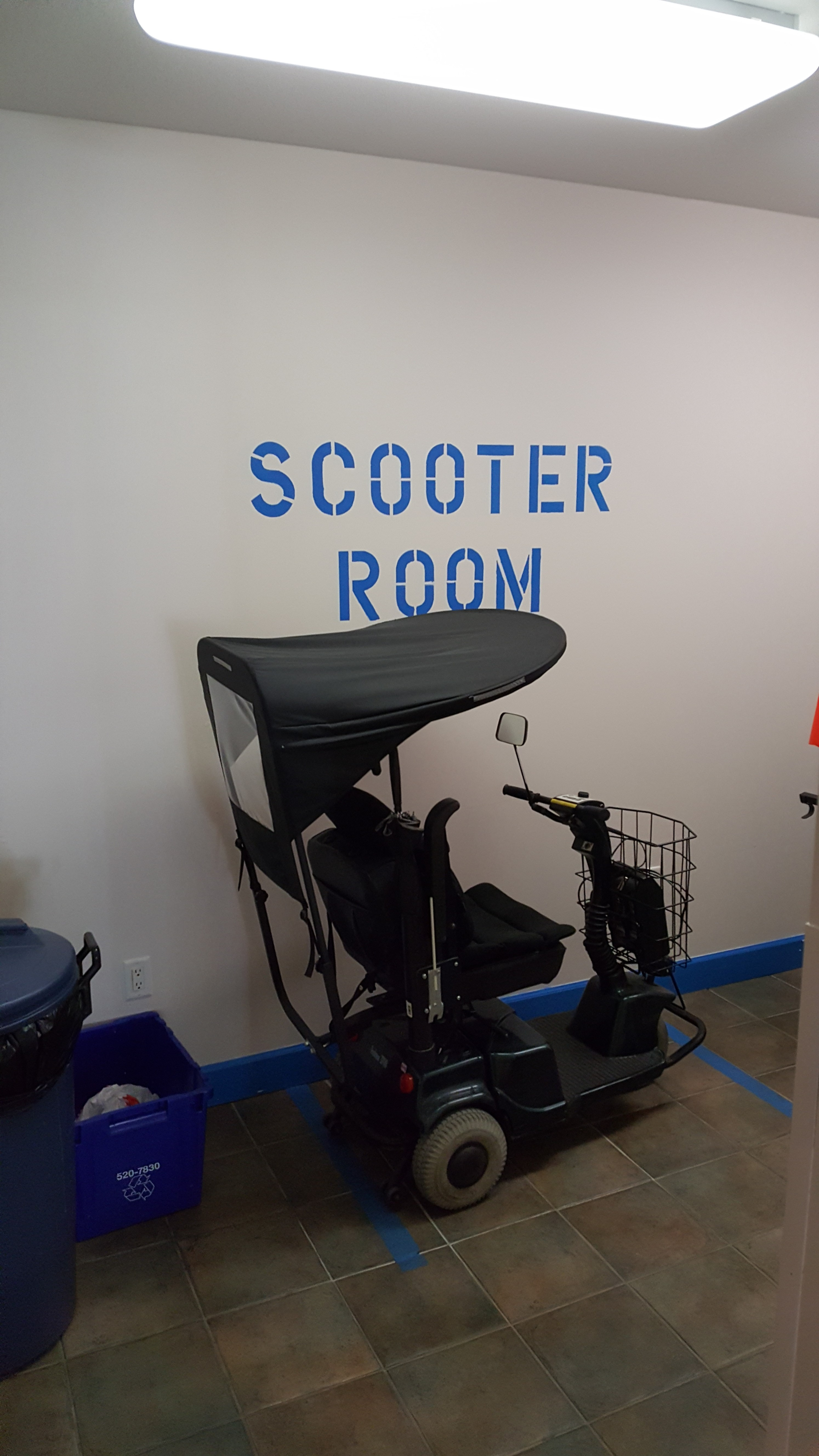 Scooter area